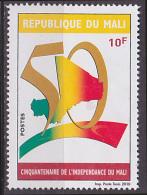 Timbre Neuf Sans Gomme (*) N° 1869(Yvert) Mali 2010 - Cinquantenaire De L´Indépendance Du Mali - Mali (1959-...)