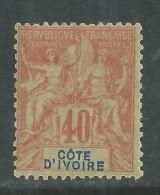 Cote D´Ivoire N° 10 X Type Groupe : 40 C. Rouge-orange, Trace De  Charnière Sinon TB - Nuovi