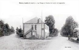 Bourg-Lastic - Canton De Saint-Ours - La Vierge Et Les Routes De Lastic Et Laqueuille - Très Beau Plan Animé - Otros Municipios