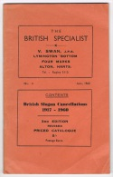RB 1019 -  40 Page Booklet British Slogan Cancellations 1917-1960 - Stamp Collecting - Books, Magazines, Comics