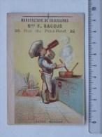 CHROMO HUMOUR Cuisinier Sauce Madère: Manufactures De Chaussures BACQUE - BOURDIN Calendriers & Chromos - Otros