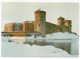 Finlande--1986--OLAVINLINNA----Castle--Le Chateau--cpm Photo  Museovirasto - Finlande
