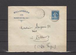 17 - Nancras - Gillardeau - Vins - 1926 - Postmark Collection (Covers)