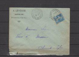17 - Brizambourg - A. Lévêque - Courtier Vins - 1922 - Postmark Collection (Covers)