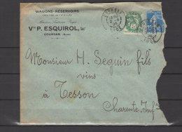 11 - Coursan - Vve P. Esquirol - Wagons Réservoirs - 1926 - 1921-1960: Modern Period