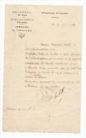 Demande De Travaux De Peinture De La Commune De PRISCHES , Arrt. D'Avesnes , Département Du Nord , 1930 - Invoices & Commercial Documents