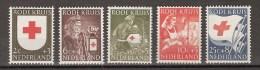NVPH Netherlands Nederland Pays Bas Niederlande Holanda 607-611 MLH Rode Kruis, Croix Rouge, Cruz Roja, Red Cross 1953 - Ongebruikt