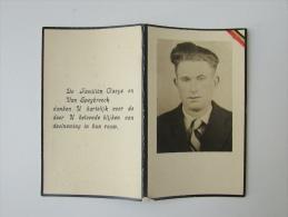 Doodsprentje Maurice Claeys Lid V/h Geheim Leger HERON 1944 Mishandelingen En Ontberingen - Religion & Esotérisme