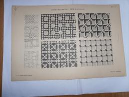 STAMPA ORNAMENTO GEOMETRICO G.COLAFELICE 1893 MOTIVI ORNAMENTALI RETE A QUADRATI - Estampes & Gravures