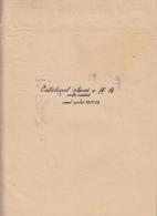 1100FM- SCHOOL CLASSBOOK, GRADES, 14 PAGES, 1938, ROMANIA - Diplomas Y Calificaciones Escolares