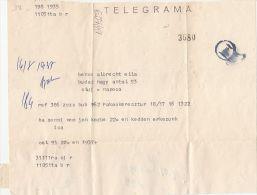 13732- TELEGRAMME SENT TO CLUJ NAPOCA, 1980, ROMANIA - Télégraphes