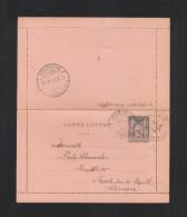 France Carte-Lettre 1894 Paris Pour L'Allemagne - Ganzsachen