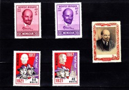 EXTRA-30 MONGOLIA 5 STAMPS. MNH **.