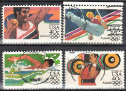 United States 1983 Summer Olympics 1984 - Sc # C105-108 - Mi.1622-25 - Used - Luftpost