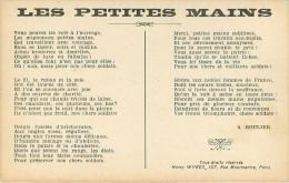 Militaria - Guerre 1914-18 - Musique - Chanson - Les Petites Mains - A. Roulier - état - Guerre 1914-18