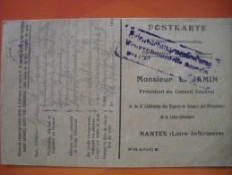 Carte En Franchise Avec Cachets De GAUDET, Prisonnier Le 21/03/1915 à Mesnil Les Hurlus, Du 51e RI, Interné à Hameln - Marcophilie (Lettres)