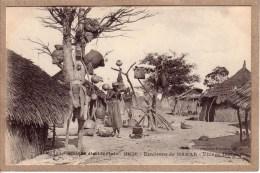 SENEGAL - AFRIQUE OCCIDENTALE - ENVIRONS DE DAKAR - 2251 - VILLAGE INDIGENE - FEMME - Collection Générale Fortier - Senegal