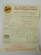 Factuur Invoice Shell Belgian Benzine Company Brugge Bruges 1932 - Belgique