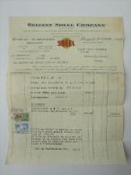 Factuur 1932 Invoice Shell Belgian Brugge Bruges - Belgique