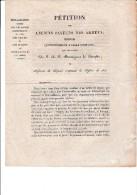 PETITION DES ANCIENS PAYEURS DES ARMEES EMPLOYES ULTERIEUREMENT A CELLE D'ESPAGNE -1828 - Decrees & Laws