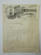 Letter Bestelling Brief 1909 Delft Bruigom Bloemenmagazijn Facture Invoice - Faire-part