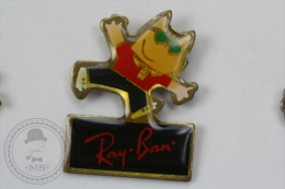 Barcelona 1992 Olympic Games - Cobi Mascot - RayBan Sun Glasses Advertising  - Pin Badge #PLS - Juegos Olímpicos