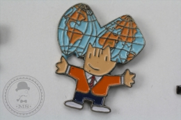 Barcelona 1992 Olympic Games - Cobi Mascot With Earth Globe - Pin Badge #PLS - Juegos Olímpicos