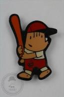 Barcelona 1992 Olympic Games - Cobi Mascot Playing Baseball - Pin Badge #PLS - Juegos Olímpicos