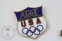 USA Olympic Games Advertising Shield - AT&T Company - Pin Badge #PLS - Juegos Olímpicos