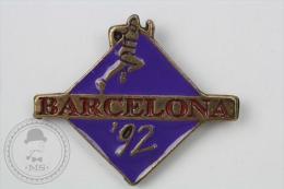 Barcelona 1992 Olympic Games - Purple Colour Athletics - Pin Badge #PLS - Juegos Olímpicos
