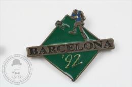 Barcelona 1992 Olympic Games - Green Colour Football - Pin Badge #PLS - Juegos Olímpicos