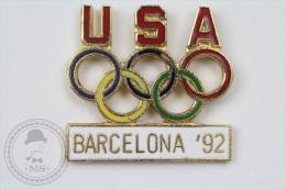 USA Olympic Games Barcelona 1992 - Enamel Pin Badge #PLS - Juegos Olímpicos