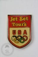 Olympic Games USA Sponsor - Jet Set Tours - Pin Badge #PLS - Juegos Olímpicos