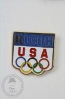 Olympic Games USA Sponsor - Ricoh - Pin Badge #PLS - Juegos Olímpicos