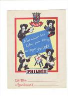 PROTEGE CAHIER PAIN D EPICES DE DIJON PHILBEE OURS CARTE DE FRANCE - Gingerbread