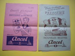 Lot De 2 Pubs Patisserie Ancel Recettes Format A5 Années 50 ? - Publicités