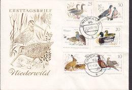 Germany DDR ZWICKAU 1.4.1968 Cover Brief Niederwild Bird Vogel Oiseau Complete Set (Ersttagsbrief, FDC Cachet) Not FDC
