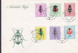 Germany DDR ZWICKAU 22.10.1968 Cover Brief N�tzliche K�fer Insekten Complete Set (Ersttagsbrief, FDC Cachet) Not FDC