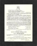 Mademoiselle Marie-Therese ...Van BRIENEN - Saint-Trond 1851 / 1954 - Overlijden