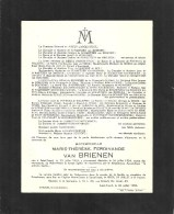 Mademoiselle Marie-Therese ...Van BRIENEN - Saint-Trond 1851 / 1954 - Obituary Notices