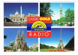 RB 1020 - 1996 Advertising Postcard  - Classic Gold Radio - Advertising