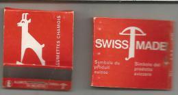 2 POCHETTES D'ALLUMETTES CHAMOIS - PUB MADE SWISS - Cajas De Cerillas (fósforos)