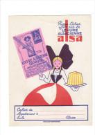 PROTEGE CAHIER LEVURE ALSACIENNE ALSA JEU ALSATICK CHEQUES TINTIN FLAN SUCRE GATEAU DE RIZ ENTREMET CAKE - A