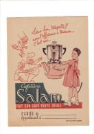 PROTEGE CAHIER CAFETIERE SALAM FAIT SON CAFE TOUTE SEULE CODE DE LA ROUTE DE L ECOLIER - Buvards, Protège-cahiers Illustrés
