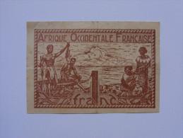 Billet Afrique Occidentale Française 1Franc - Unclassified