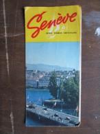 DéPLIANTS TOURISTIQUES (M1505) SUISSE - GENÊVE (2 Vues) Dépliant Explicatif Des Activités, Tennis Canotage, Etc - Dépliants Touristiques