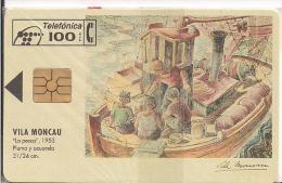 TARJETA PINTURA LA PESCA  ACUARELATIRADA 5100 - Pintura