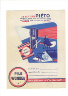 PROTEGE CAHIER PILE WONDER LE BOITIER PIETO - Buvards, Protège-cahiers Illustrés