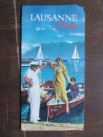 DéPLIANTS TOURISTIQUES (M1505) SUISSE - LAUSANNE / OUCHY (2 Vues) Plan, Explicatif Des Activités, Plongeoir, Etc - Dépliants Touristiques