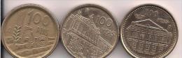 LOTE 3 MONEDAS DE 100PTAS AÑOS1995 1996 1997 - Monedas & Billetes